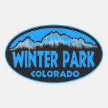 Pegatinas ovales azules de Colorado del parque del