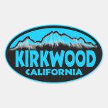 Pegatinas ovales azules de Kirkwood California