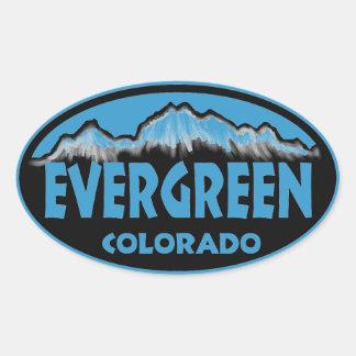 Pegatinas ovales azules imperecederos de Colorado