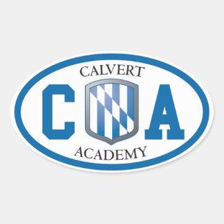 Pegatinas ovales de la academia de Calvert (fije