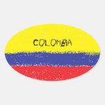 Pegatinas ovales de la bandera de la pintura de Co