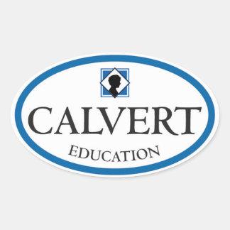 Pegatinas ovales de la educación de Calvert (fije
