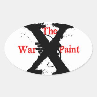 """Pegatinas ovales """"de la pintura de guerra"""""""