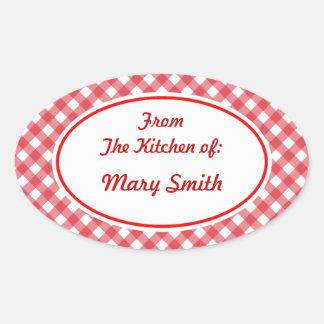 Pegatinas ovales personalizados de la cocina