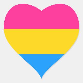Pegatinas Pansexual del orgullo - corazones Pegatina En Forma De Corazón