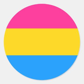 Pegatinas Pansexual del orgullo - redondos Pegatina Redonda