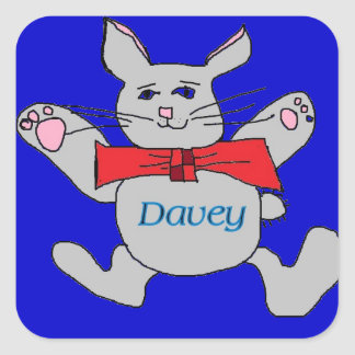 pegatinas para Davey Pegatinas Cuadradas