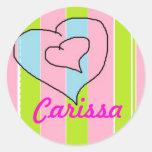 Pegatinas para el Carissa conocido