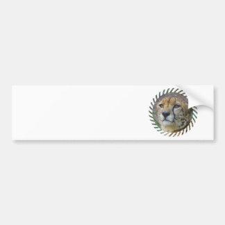 Pegatinas para el parachoques alertas del guepardo etiqueta de parachoque