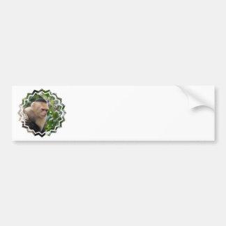 Pegatinas para el parachoques blancas del mono del etiqueta de parachoque