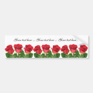 Pegatinas para el parachoques con los rosas pegatina para auto