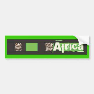 Pegatinas para el parachoques de África de la cebr Pegatina Para Auto