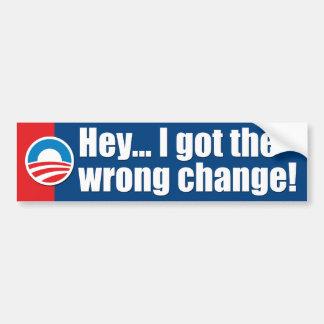 Pegatinas para el parachoques de Anti-Obama Pegatina Para Auto
