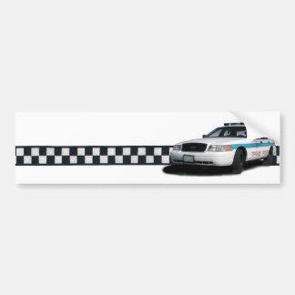 Pegatinas para el parachoques de Checkerband del p Pegatina Para Auto