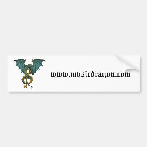 Pegatinas para el parachoques de Dragon® de la Pegatina Para Auto