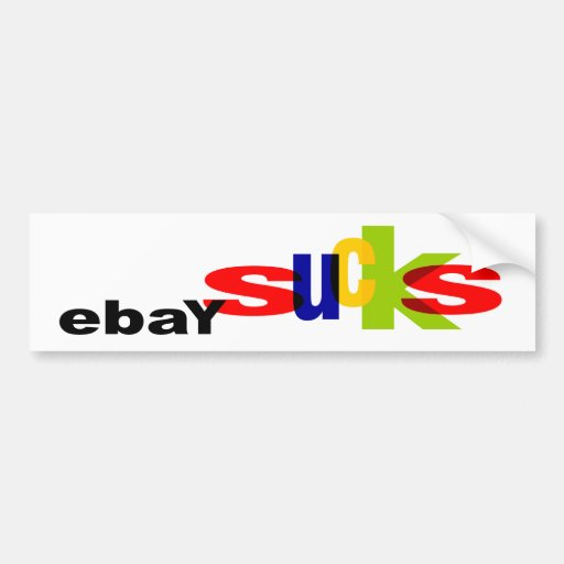 Pegatinas para el parachoques de EbaySucks Etiqueta De Parachoque