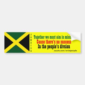 Pegatinas para el parachoques de Jamaica de la uni Pegatina Para Auto