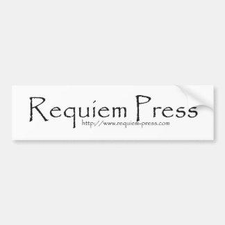 Pegatinas para el parachoques de la prensa de los  pegatina para auto