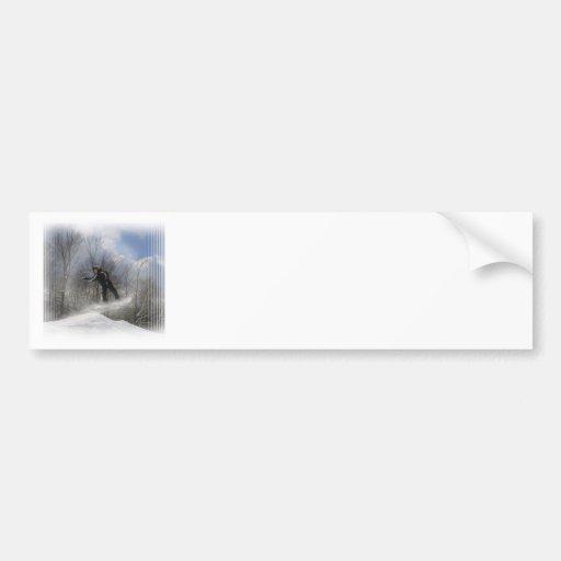 Pegatinas para el parachoques de la snowboard 360 etiqueta de parachoque