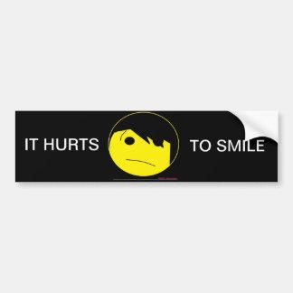 Pegatinas para el parachoques de la sonrisa de Emo Pegatina Para Auto