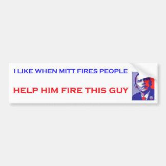 Pegatinas para el parachoques de Obama del fuego d Pegatina Para Auto