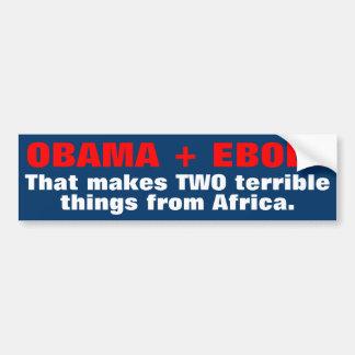 Pegatinas para el parachoques de Obama Ebola Pegatina Para Auto