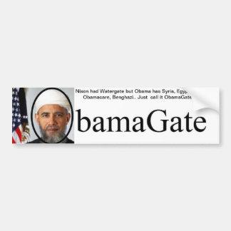 Pegatinas para el parachoques de ObamaGate Pegatina Para Auto