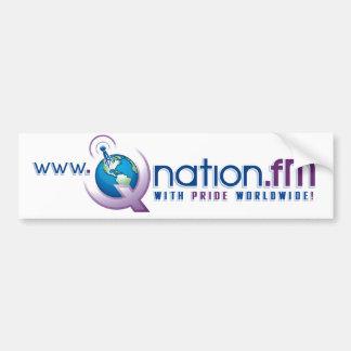 Pegatinas para el parachoques de QNation.FM Pegatina Para Auto