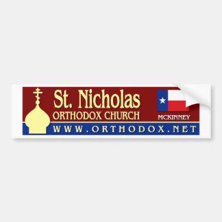 Pegatinas para el parachoques de San Nicolás Pegatina Para Auto