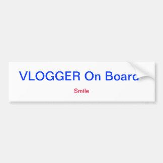 Pegatinas para el parachoques de Vlogger Pegatina Para Auto