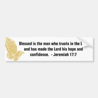 Pegatinas para el parachoques del 17:7 de Jeremiah Pegatina Para Auto