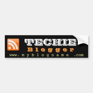 Pegatinas para el parachoques del Blogger de TECHI Pegatina Para Auto