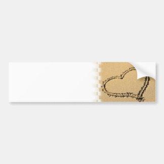 Pegatinas para el parachoques del dibujo del coraz pegatina de parachoque