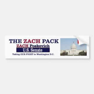 ¡Pegatinas para el parachoques del paquete de Zach Etiqueta De Parachoque