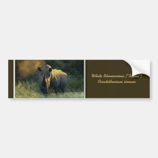 Pegatinas para el parachoques del rinoceronte pegatina para auto