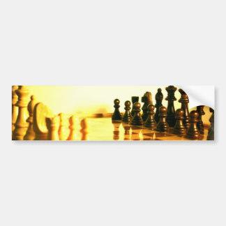 Pegatinas para el parachoques del tablero de ajedr etiqueta de parachoque
