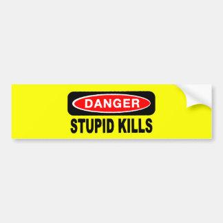Pegatinas para el parachoques estúpidas de las pegatina para auto
