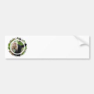 Pegatinas para el parachoques hechas frente blanca pegatina para auto
