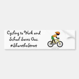 Pegatinas para el parachoques para los ciclistas pegatina de parachoque