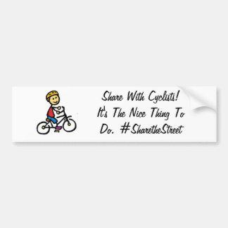 Pegatinas para el parachoques para los ciclistas etiqueta de parachoque