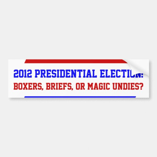 Pegatinas para el parachoques presidenciales de la pegatina de parachoque