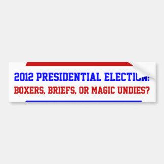 Pegatinas para el parachoques presidenciales de la pegatina para auto