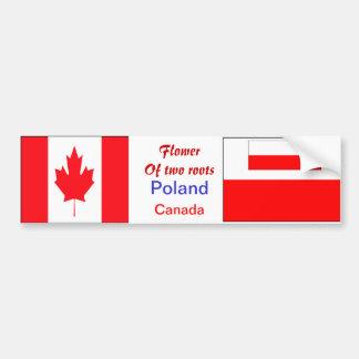 pegatinas para el parachoques Pulimento-canadiense Pegatina De Parachoque