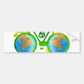 pegatinas para el parachoques verdes respetuosas d pegatina de parachoque