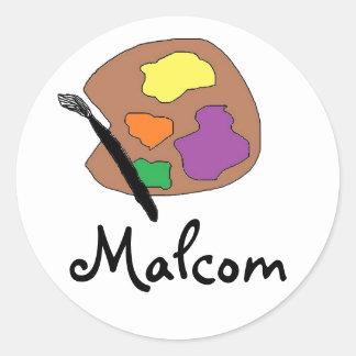 pegatinas para Malcolm conocido Pegatinas Redondas