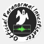 Pegatinas paranormales del investigador pegatinas redondas