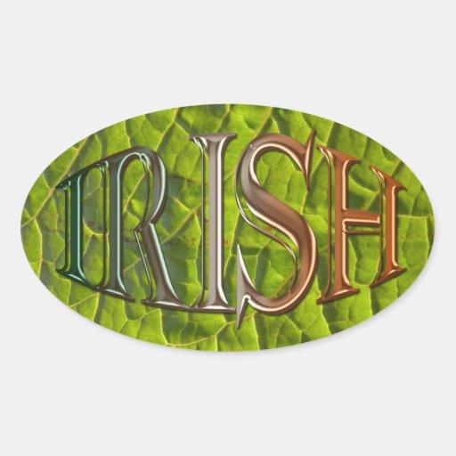 Pegatinas patrióticos de la bandera irlandesa natu