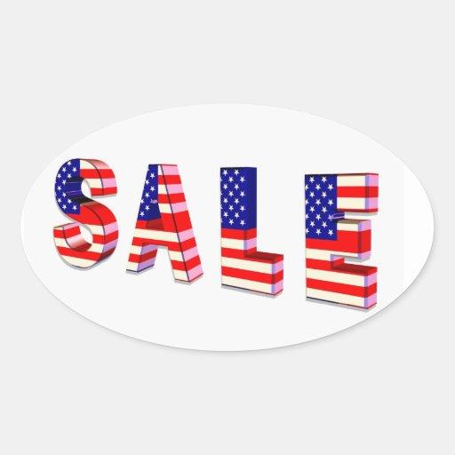 Pegatinas patrióticos de la venta calcomanías ovales personalizadas