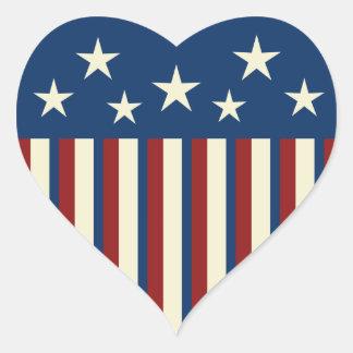 Pegatinas patrióticos del corazón pegatinas de corazon