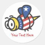 Pegatinas patrióticos personalizados personalizado pegatina redonda